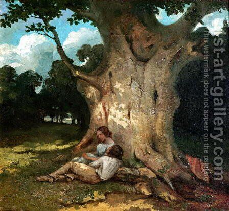 The Large Oak by Gustave Courbet - Reproduction Oil Painting
