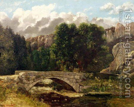 The Pont de Fleurie, Switzerland, 1873 by Gustave Courbet - Reproduction Oil Painting
