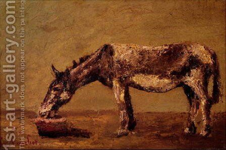 The Donkey by Gustave Courbet - Reproduction Oil Painting