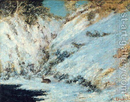 Snowy Landscape, 1866 by Gustave Courbet - Reproduction Oil Painting