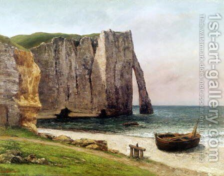 The Cliffs at Etretat, 1869 by Gustave Courbet - Reproduction Oil Painting