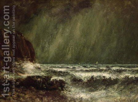Storm at Sea, 1865 by Gustave Courbet - Reproduction Oil Painting