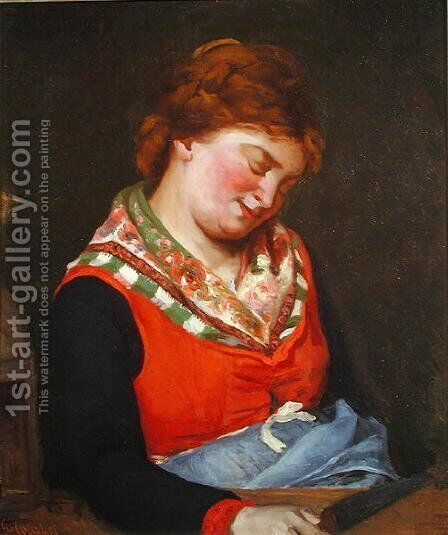 Peasant Woman Sleeping, 1853 by Gustave Courbet - Reproduction Oil Painting