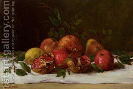 Still Life, c.1871-72 by Gustave Courbet - Reproduction Oil Painting