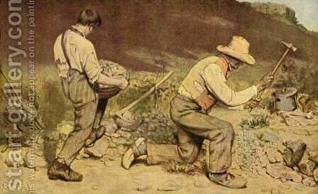 The Stone Breakers, 1849 by Gustave Courbet - Reproduction Oil Painting
