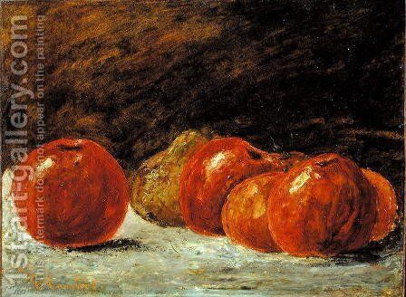 Still Life with Apples by Gustave Courbet - Reproduction Oil Painting