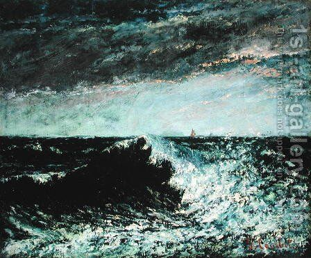 The Wave 6 by Gustave Courbet - Reproduction Oil Painting