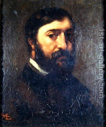 Portrait of Urbain Cuenot (b.1820) 1846 by Gustave Courbet - Reproduction Oil Painting