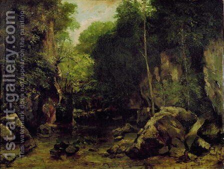 Le Puits-Noir, Doubs by Gustave Courbet - Reproduction Oil Painting