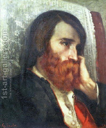 Portrait of Alfred Bruyas by Gustave Courbet - Reproduction Oil Painting