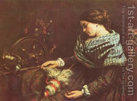 The Sleeping Embroiderer, 1853 by Gustave Courbet - Reproduction Oil Painting