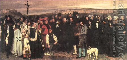 Burial at Ornans, 1849-50 by Gustave Courbet - Reproduction Oil Painting
