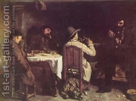 After Dinner at Ornans, 1848 by Gustave Courbet - Reproduction Oil Painting