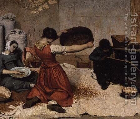 The Winnowers, 1855 by Gustave Courbet - Reproduction Oil Painting