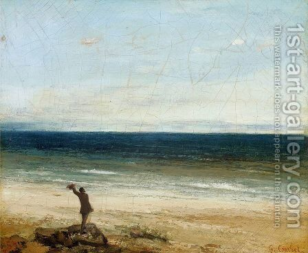 The Artist on the Seashore at Palavan by Gustave Courbet - Reproduction Oil Painting