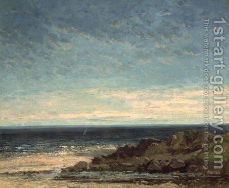 The Sea by Gustave Courbet - Reproduction Oil Painting