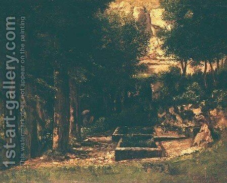 The Fountain by Gustave Courbet - Reproduction Oil Painting