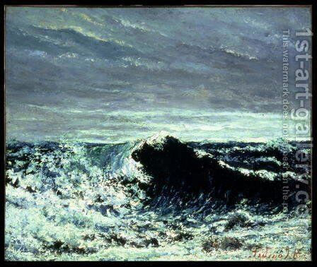 The Wave, c.1871 by Gustave Courbet - Reproduction Oil Painting