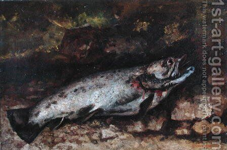 The Trout, 1873 by Gustave Courbet - Reproduction Oil Painting