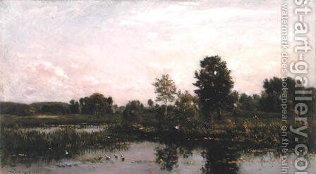 A Bend in the River Oise, 1872 by Charles-Francois Daubigny - Reproduction Oil Painting