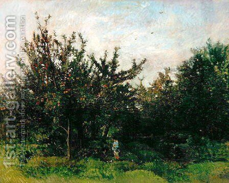 An Apple Orchard by Charles-Francois Daubigny - Reproduction Oil Painting