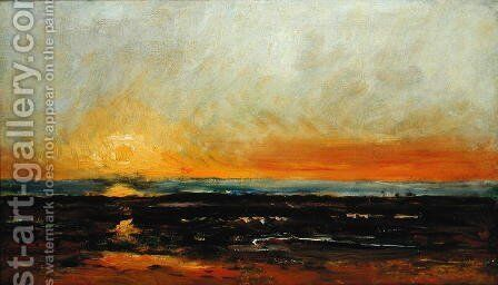 Sunset on the Sea Coast by Charles-Francois Daubigny - Reproduction Oil Painting