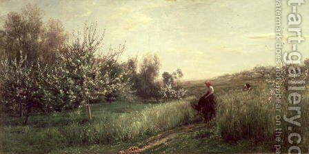Spring, 1857 by Charles-Francois Daubigny - Reproduction Oil Painting
