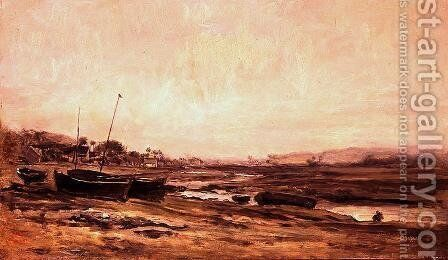 Fishing Boats by Charles-Francois Daubigny - Reproduction Oil Painting