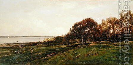 Seaside of Villerville, 1870 by Charles-Francois Daubigny - Reproduction Oil Painting