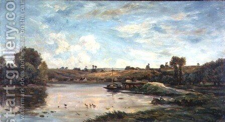 On the Loire by Charles-Francois Daubigny - Reproduction Oil Painting