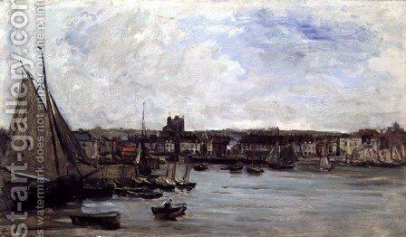 Dieppe, 1875 by Charles-Francois Daubigny - Reproduction Oil Painting