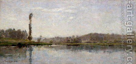 Morning on the Oise, Auvers by Charles-Francois Daubigny - Reproduction Oil Painting