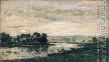 Evening on the Oise, 1872 by Charles-Francois Daubigny - Reproduction Oil Painting
