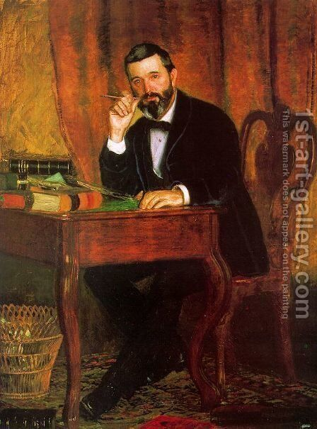 Dr. Horatio C. Wood, 1886 by Thomas Cowperthwait Eakins - Reproduction Oil Painting