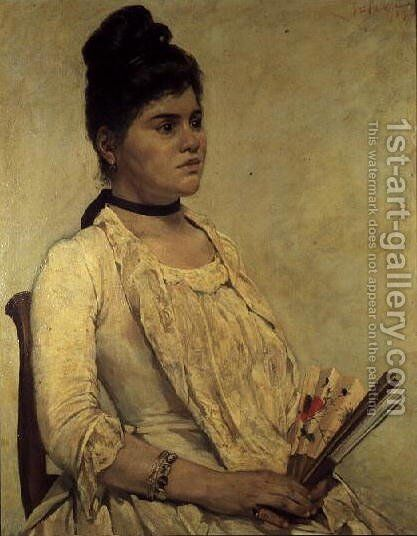 Portrait of the Step Daughter, 1889 by Giovanni Fattori - Reproduction Oil Painting