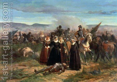 Mary Stuart at the Battle of Langside, May 1568 by Giovanni Fattori - Reproduction Oil Painting