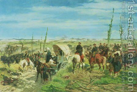 The Italian Camp at the Battle of Magenta, June 1859 by Giovanni Fattori - Reproduction Oil Painting
