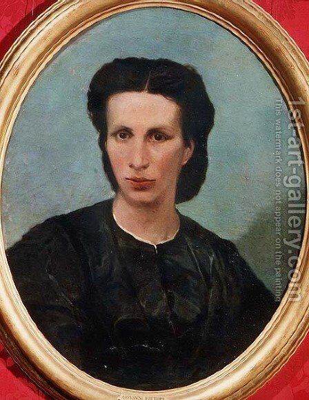 Portrait of Mrs. Biliotto by Giovanni Fattori - Reproduction Oil Painting
