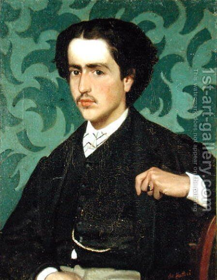 Portrait of a Young Man by Giovanni Fattori - Reproduction Oil Painting