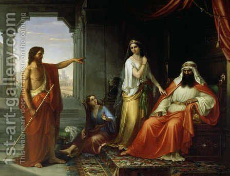 St. John the Baptist rebuking Herod by Giovanni Fattori - Reproduction Oil Painting