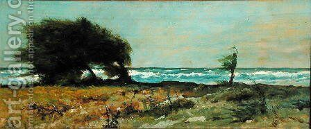 The South-West Wind by Giovanni Fattori - Reproduction Oil Painting