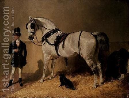A St. James's Carriage Horse by John Frederick Herring Snr - Reproduction Oil Painting