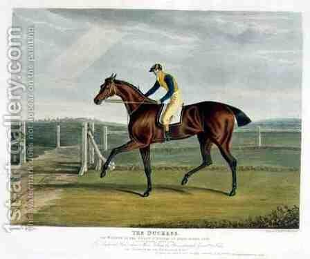 'The Duchess', the Winner of the Great St. Leger at Doncaster, 1816 by John Frederick Herring Snr - Reproduction Oil Painting