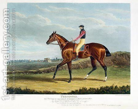 'Theodore', the Winner of the Great St. Leger at Doncaster, 1822 by John Frederick Herring Snr - Reproduction Oil Painting