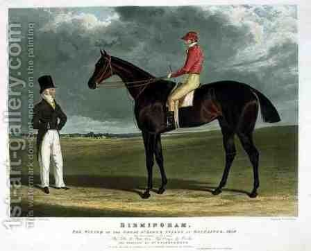 'Birmingham', the Winner of the Great St. Leger Stakes at Doncaster, 1830 by John Frederick Herring Snr - Reproduction Oil Painting