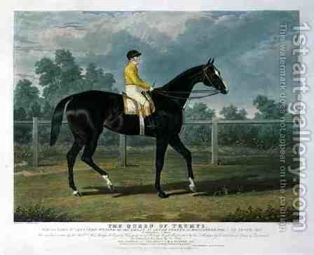 'Queen of Trumps', Won the Oaks Stakes (the Winner of the Great St. Leger Stakes at Doncaster, 1835) at Epsom, 1835 by John Frederick Herring Snr - Reproduction Oil Painting