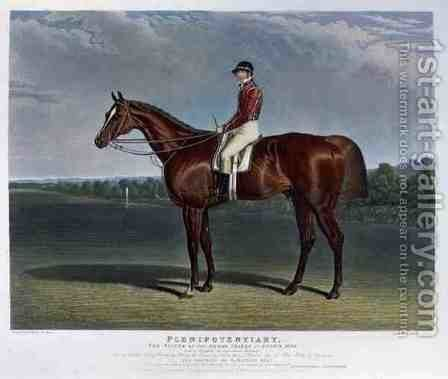 'Plenipotentiary', the Winner of the Derby Stakes at Epsom, 1834 by John Frederick Herring Snr - Reproduction Oil Painting