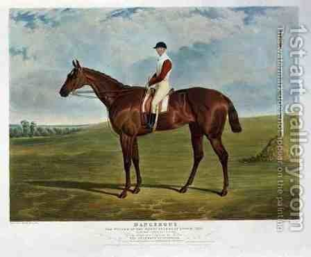 'Dangerous', the Winner of the Derby Stakes at Epsom, 1833 by John Frederick Herring Snr - Reproduction Oil Painting