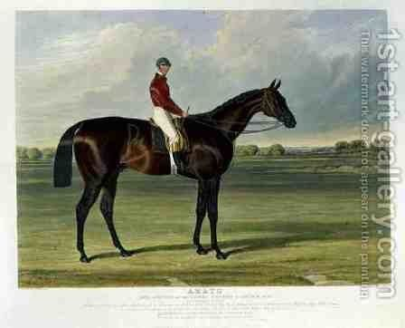 'Amato', the Winner of the Derby Stakes at Epsom, 1838 by John Frederick Herring Snr - Reproduction Oil Painting