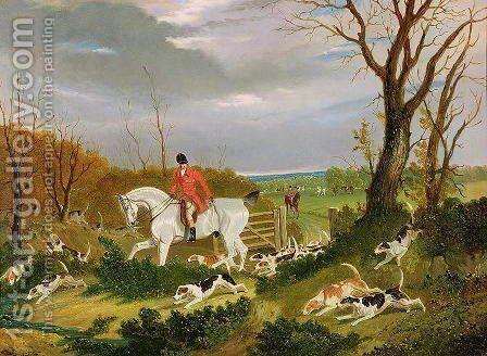 The Suffolk Hunt - Going to Cover near Herringswell by John Frederick Herring Snr - Reproduction Oil Painting
